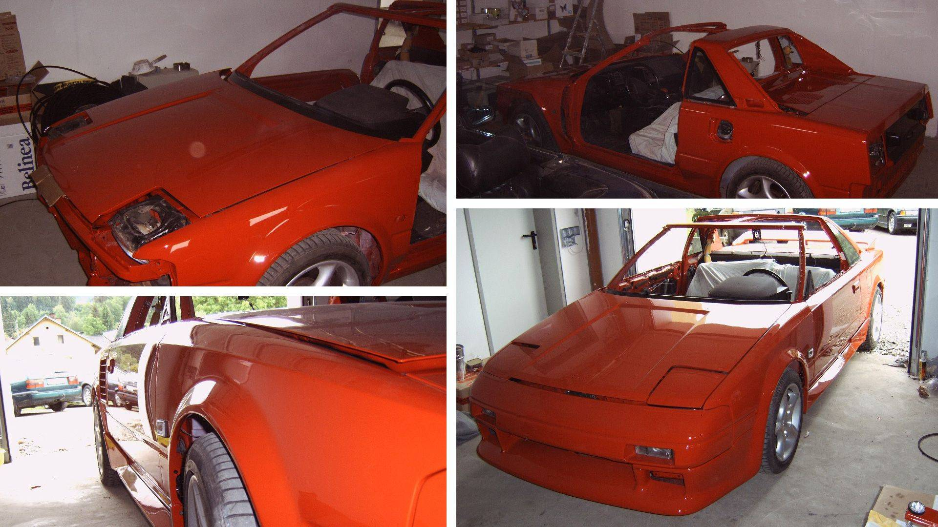 Toyota MR2 AW11 Lackiert